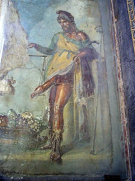 Фреска Приапа из Помпеи