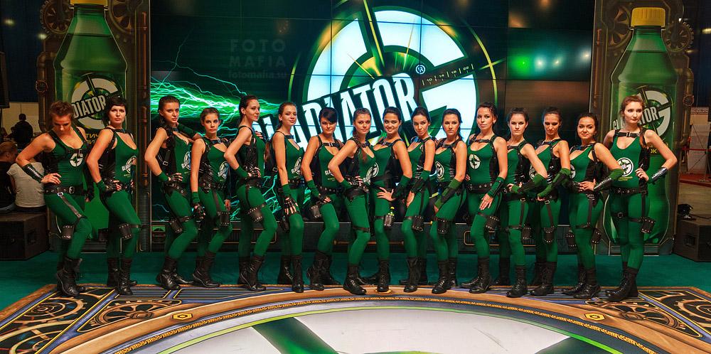 Игромир 2013, девушки Gladiator