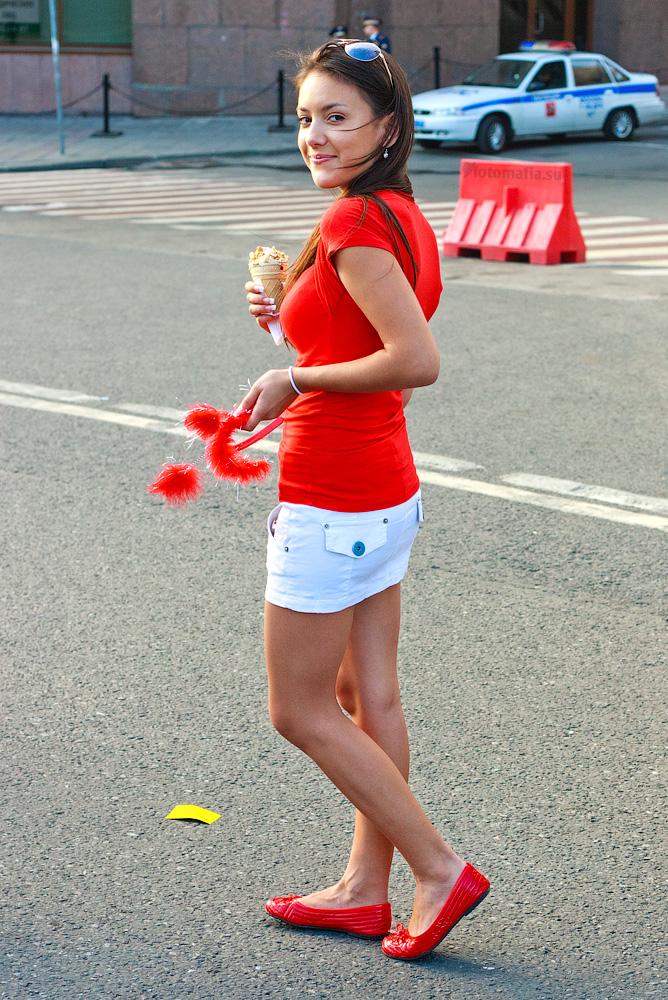 Фотоохота на девушку на улице