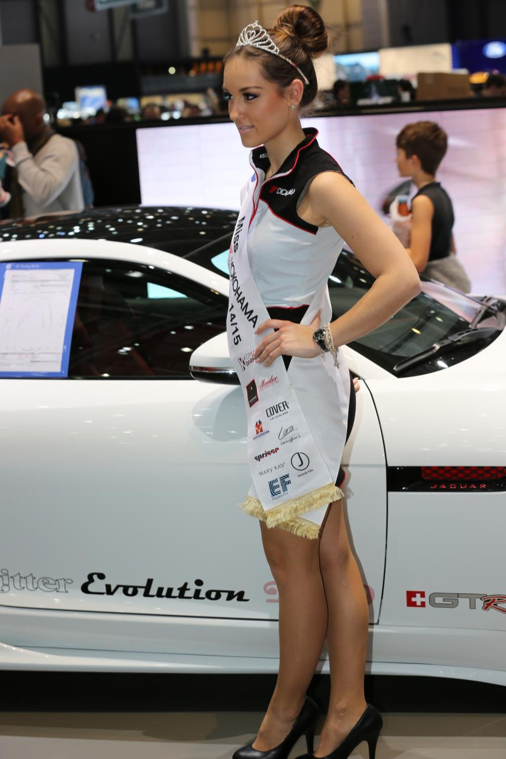Девушка Geneva International Motor Show 2015