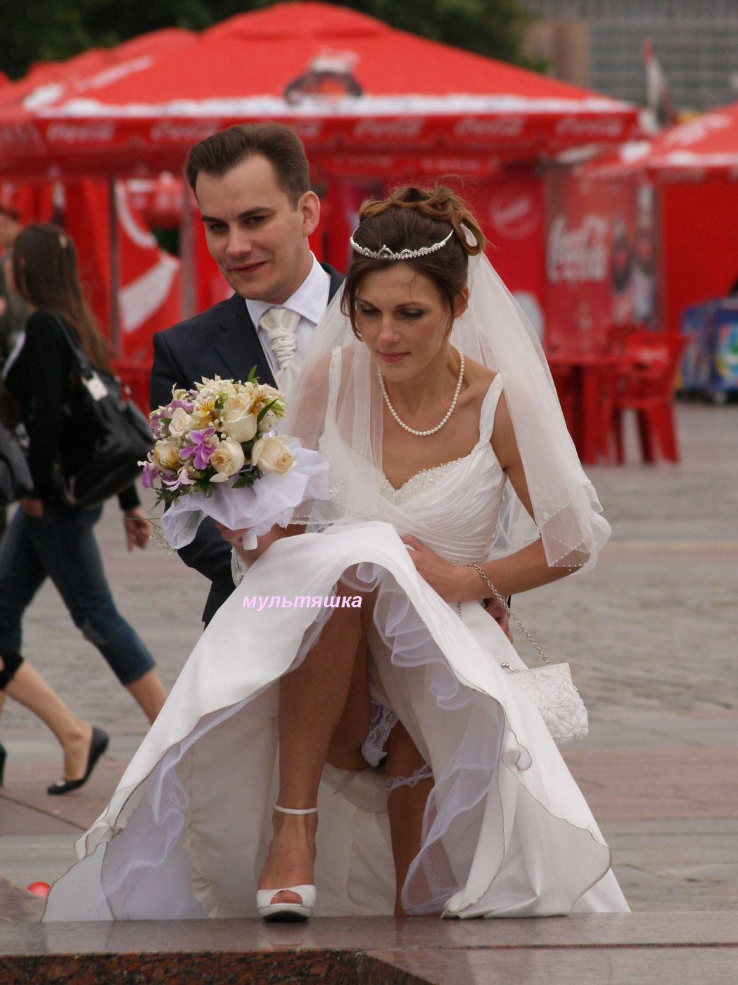 У невест белые трусики 10 фотография