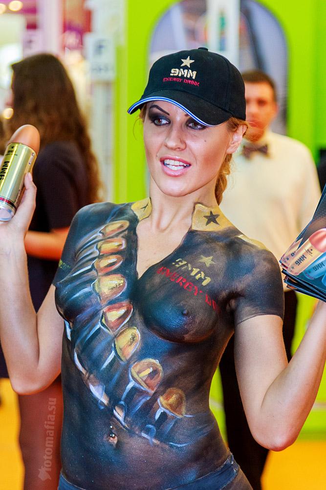 Бодиарт на выставке World Food 2012