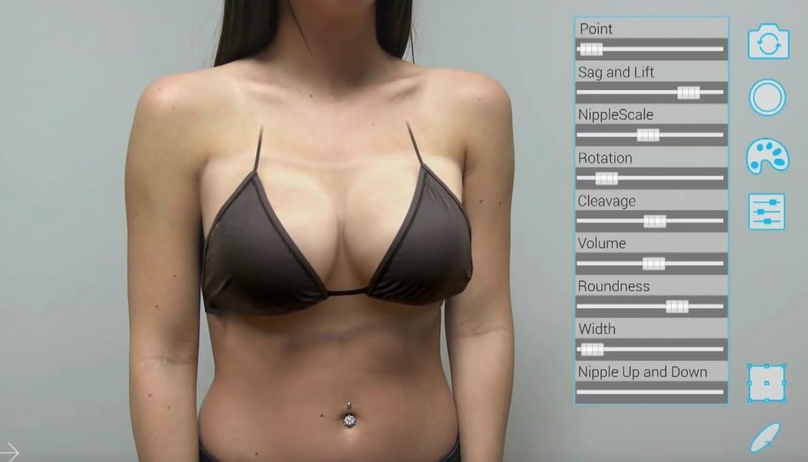 Виртуальное увеличение груди