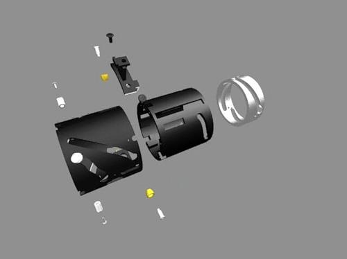 разобранный зеркальный фотоаппарат